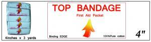 Top Bandage (Binding Edge) 4in x 3yd ()