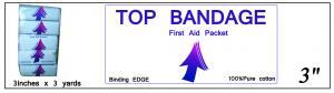 Top Bandage (Binding Edge) 3in x 3yd ()